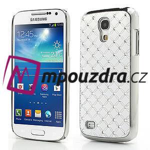 Drahokamové pouzdro pro Samsung Galaxy S4 mini i9190- bílé - 1
