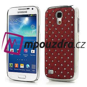 Drahokamové pouzdro pro Samsung Galaxy S4 mini i9190- červené - 1