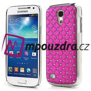 Drahokamové pouzdro pro Samsung Galaxy S4 mini i9190- růžové - 1