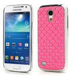 Drahokamové pouzdro pro Samsung Galaxy S4 mini i9190- světlerůžové - 1/5