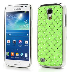 Drahokamové pouzdro pro Samsung Galaxy S4 mini i9190- zelené - 1