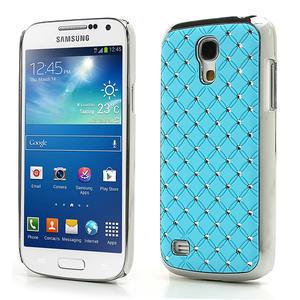 Drahokamové pouzdro pro Samsung Galaxy S4 mini i9190- svělemodré - 1