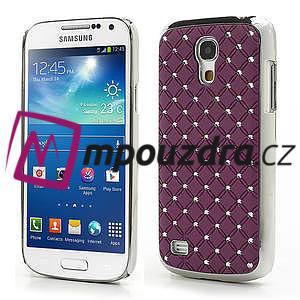 Drahokamové pouzdro pro Samsung Galaxy S4 mini i9190- fialové - 1