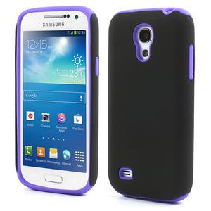 Hybridní pouzdro na Samsung Galaxy S4 mini i9190- fialové - 1
