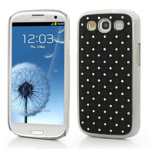 Drahokamové pouzdro pro Samsung Galaxy S3 i9300 - černé - 1