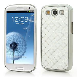 Drahokamové pouzdro pro Samsung Galaxy S3 i9300 - bílé - 1