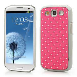 Drahokamové pouzdro pro Samsung Galaxy S3 i9300- světle-růžové - 1