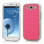 Drahokamové pouzdro pro Samsung Galaxy S3 i9300- světle-růžové - 1/5