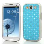 Drahokamové pouzdro pro Samsung Galaxy S3 i9300 - světlě-modré - 1/5