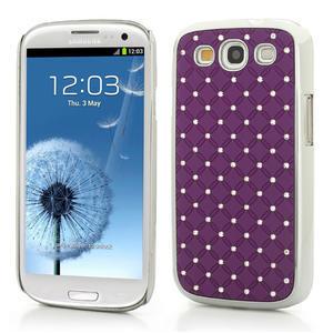 Drahokamové pouzdro pro Samsung Galaxy S3 i9300 - fialové - 1