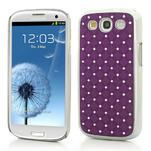 Drahokamové pouzdro pro Samsung Galaxy S3 i9300 - fialové - 1/5
