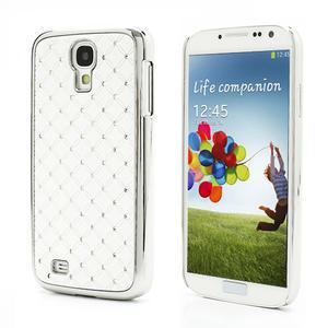 Drahokamové pouzdro pro Samsung Galaxy S4 i9500- bílé - 1