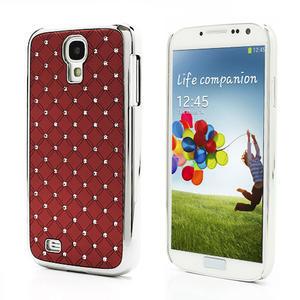 Drahokamové pouzdro pro Samsung Galaxy S4 i9500- červené - 1