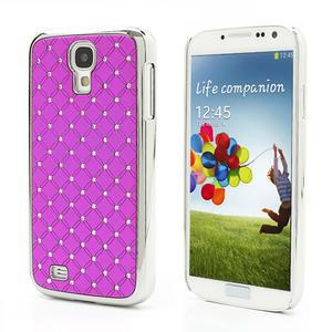 Drahokamové pouzdro pro Samsung Galaxy S4 i9500- růžové - 1