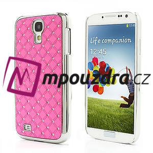 Drahokamové pouzdro pro Samsung Galaxy S4 i9500- světle-růžové - 1