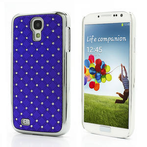 Drahokamové pouzdro pro Samsung Galaxy S4 i9500- modré - 1