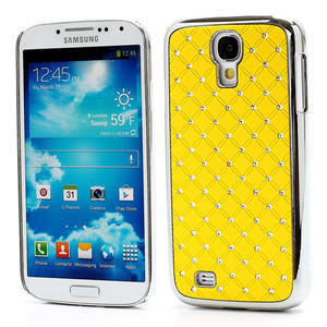 Drahokamové pouzdro pro Samsung Galaxy S4 i9500- žlutá - 1