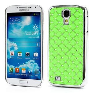 Drahokamové pouzdro pro Samsung Galaxy S4 i9500-zelené - 1