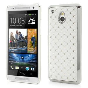 Drahokamové pouzdro pro HTC one Mini M4- bílé - 1