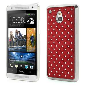 Drahokamové pouzdro pro HTC one Mini M4- červené - 1