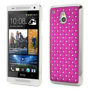 Drahokamové pouzdro pro HTC one Mini M4- růžové - 1