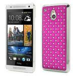 Drahokamové pouzdro pro HTC one Mini M4- růžové - 1/5