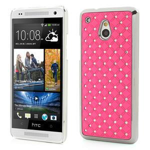 Drahokamové pouzdro pro HTC one Mini M4- světlerůžové - 1