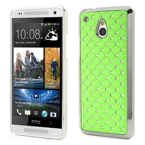 Drahokamové pouzdro pro HTC one Mini M4- zelené - 1