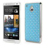 Drahokamové pouzdro pro HTC one Mini M4- světlemodré - 1/5