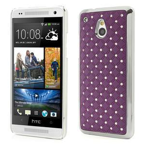 Drahokamové pouzdro pro HTC one Mini M4- fialové - 1