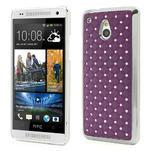 Drahokamové pouzdro pro HTC one Mini M4- fialové - 1/5
