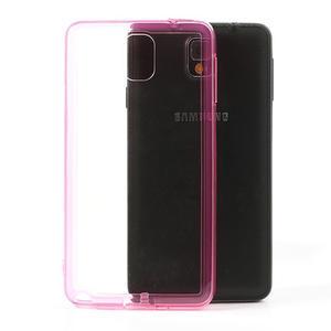 Gelové hybrid pouzdro na Samsung Galaxy Note 3- růžové - 1