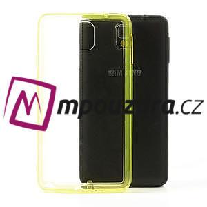 Gelové hybrid pouzdro na Samsung Galaxy Note 3- žluté - 1