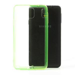 Gelové hybrid pouzdro na Samsung Galaxy Note 3- zelené - 1