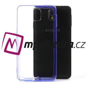 Gelové hybrid pouzdro na Samsung Galaxy Note 3- fialové - 1