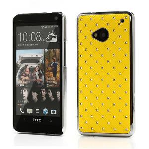 Drahokamové pouzdro pro HTC one M7- žluté - 1