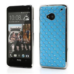 Drahokamové pouzdro pro HTC one M7- světlemodré - 1