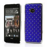 Drahokamové pouzdro pro HTC one M7- modré - 1/6