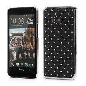Drahokamové pouzdro pro HTC one M7- černé - 1