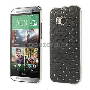 Drahokamové pouzdro pro HTC one M8- černé - 1