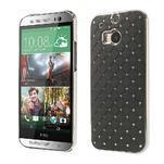 Drahokamové pouzdro pro HTC one M8- černé - 1/6