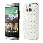 Drahokamové pouzdro pro HTC one M8- bílé - 1/6