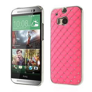 Drahokamové pouzdro pro HTC one M8- světlerůžové - 1