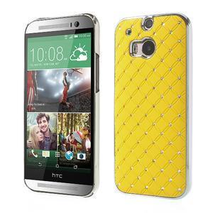 Drahokamové pouzdro pro HTC one M8- žluté - 1