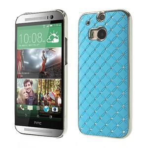 Drahokamové pouzdro pro HTC one M8- světlemodré - 1