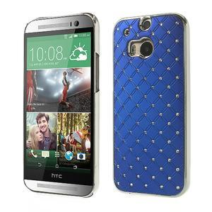Drahokamové pouzdro pro HTC one M8- modré - 1