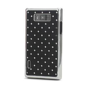 Drahokamové pouzdro pro LG Optimus L7 P700- černé - 1