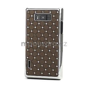 Drahokamové pouzdro pro LG Optimus L7 P700- coffee - 1