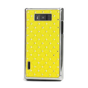 Drahokamové pouzdro pro LG Optimus L7 P700- žluté - 1