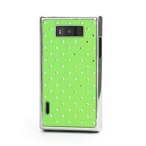 Drahokamové pouzdro pro LG Optimus L7 P700- zelené - 1